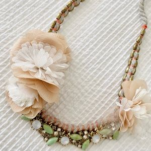 ANTHROPOLOGIE Statement Jeweled Necklace
